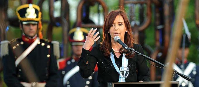 Cristina Fernández de Kirchner en el acto por la Soberanía Nacional, que conmemora la Vuelta de Obligado.