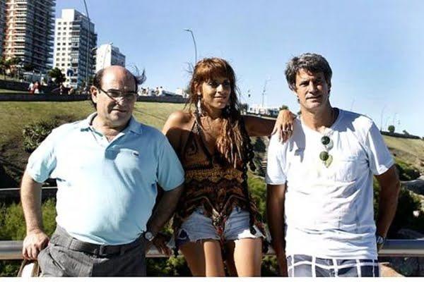 Humberto Tumini, Victoria Donda y Alfonso Prat Gay en Mar del Plata. Foto: Télam