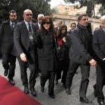 Cristina llegó a Roma para reunirse en la Casa Santa Marta del Vaticano con el Papa Francisco