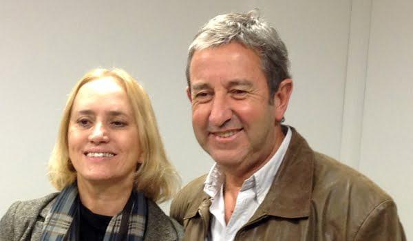 Graciela Cousinet y Julio Cobos, posaron tras el acuerdo de UCR y Libres del Sur.