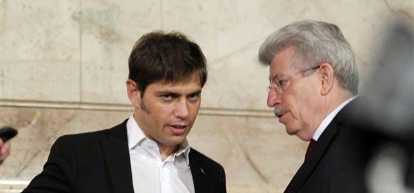 El ministro de Economía, Axel Kicillof, y el presidente del Banco Central,  Juan Carlos Fábrega, estuvieron el martes reunidos con la Presidenta. Foto: Archivo