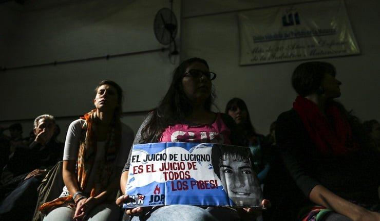04-05-2015. La Matanza. En el TOC3 de la Matanza se inicio el juicio por el caso Luciano Arruga.